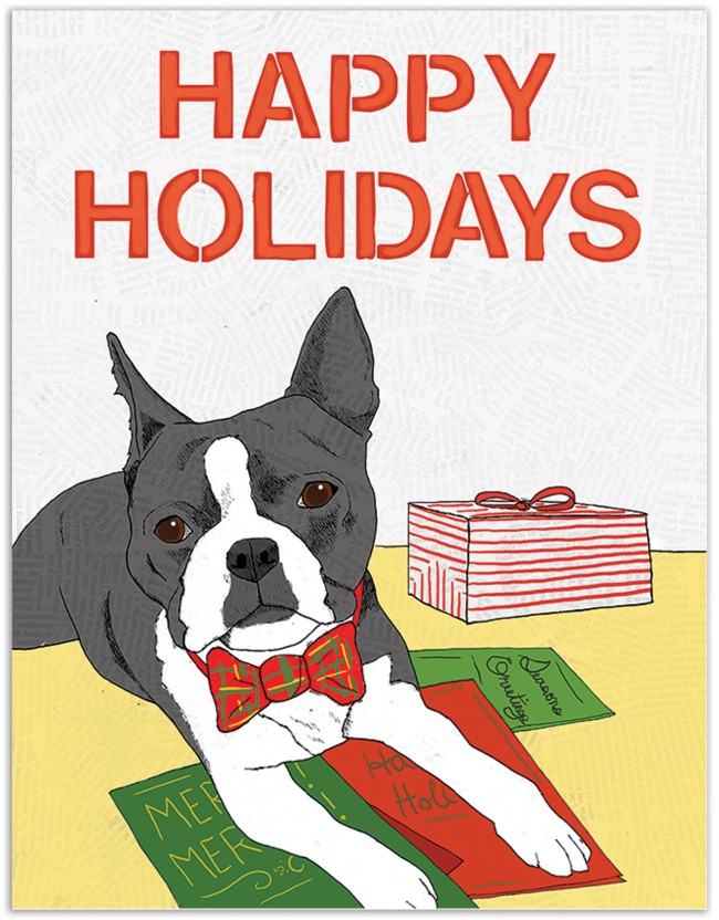 Holiday Letters Dog