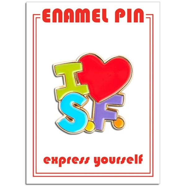 Pin - I Heart SF Colorful