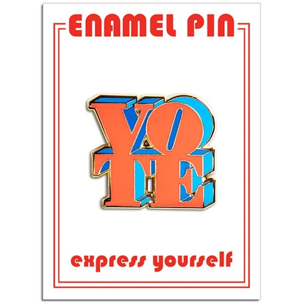 Pin - VOTE (Red & Blue)