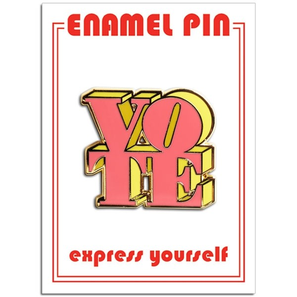 Pin - VOTE (Pink & Yellow)
