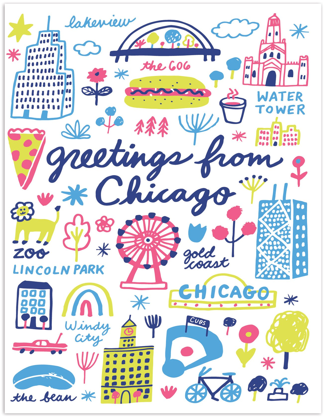 The Found Greetings From Chicago Landmarks