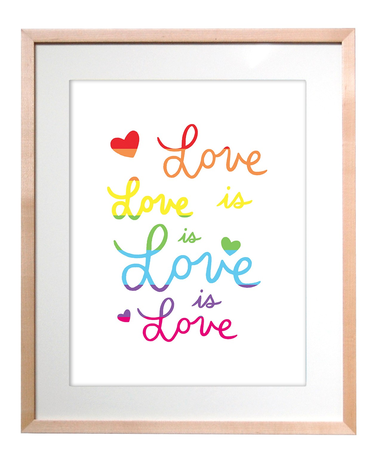 The Found Art Print Love Is Love Is Love