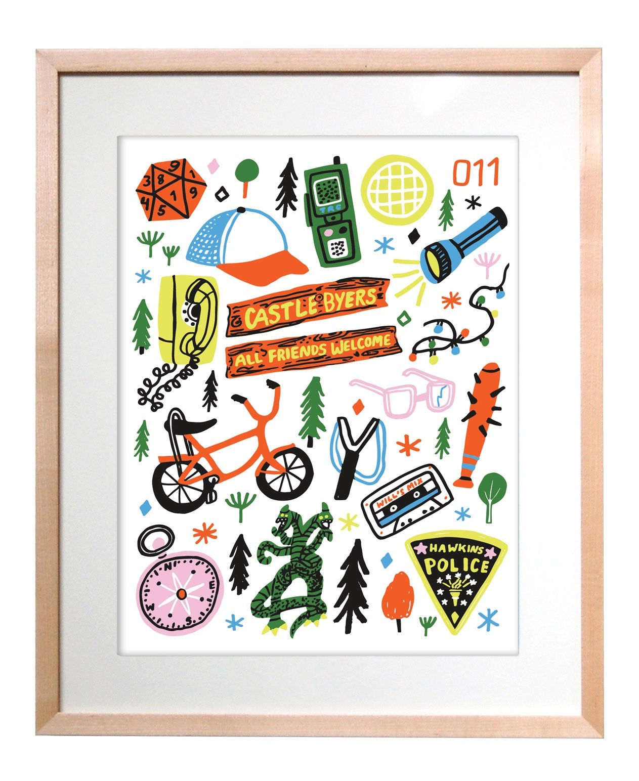 The Found Art Print Stranger Things Icons
