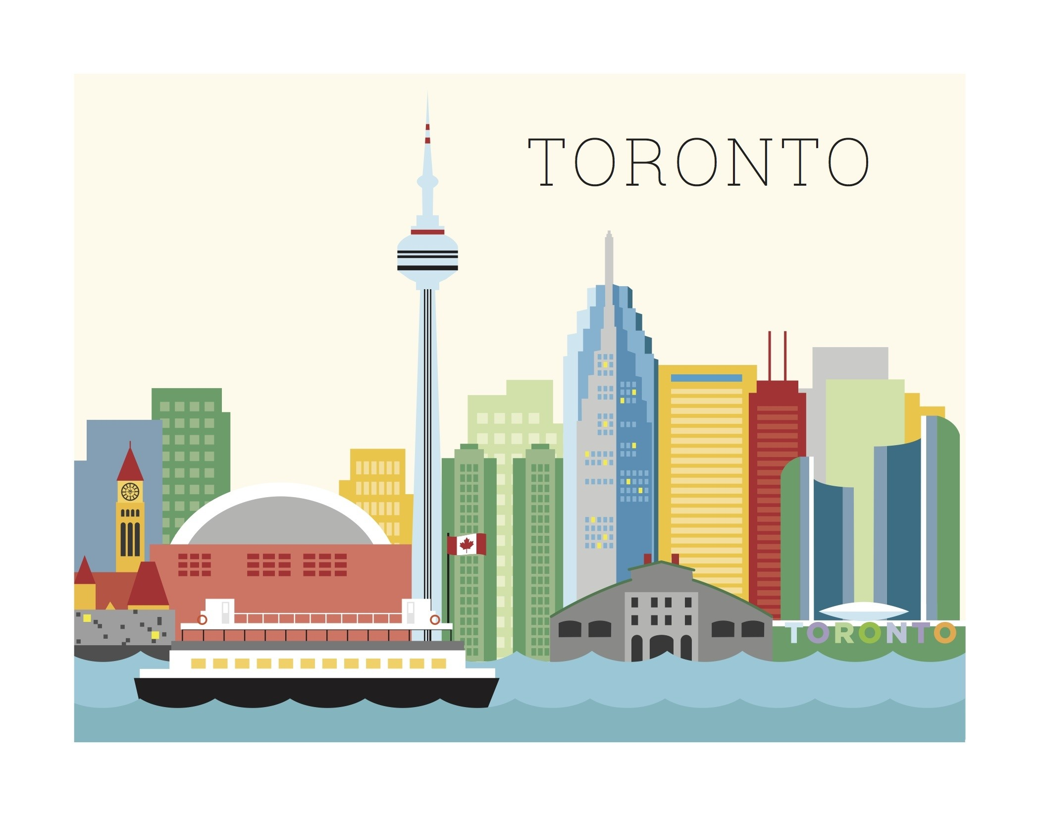 The Found Art Print Toronto Skyline