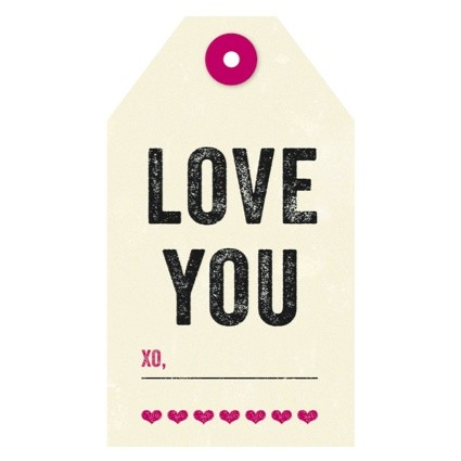 The Found - Love You Gift Tag
