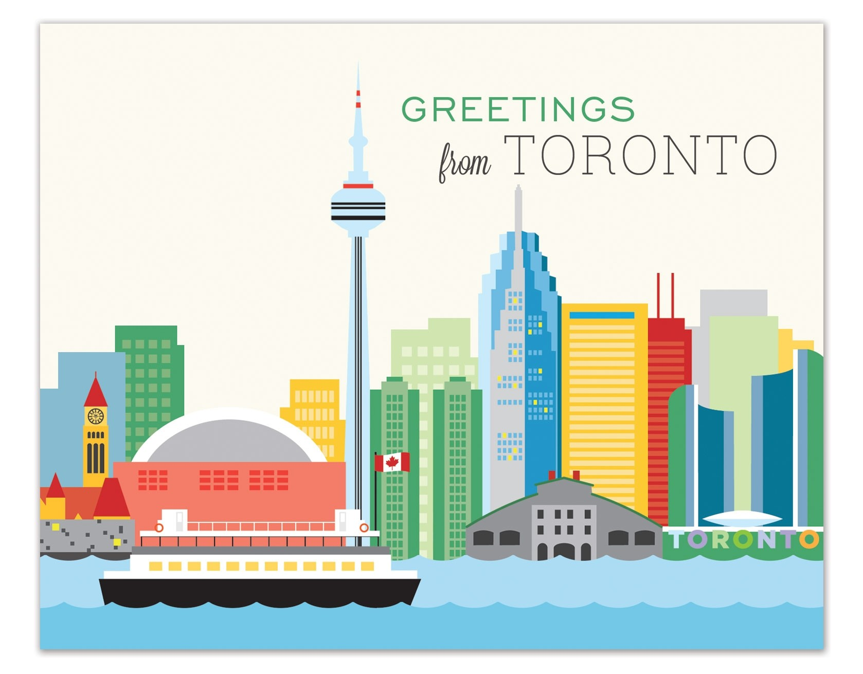 The Found Greetings From Toronto Skyline