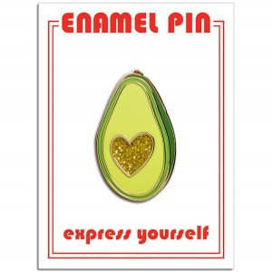 Pin - Avocado Glitter Heart