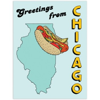 Hotdog - Greetings from Chicago