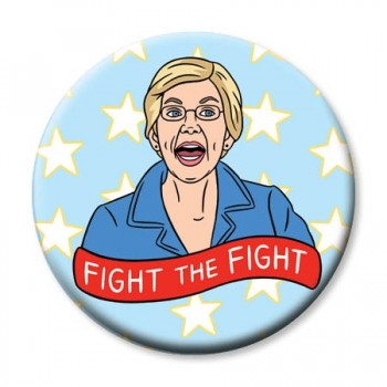 Round Magnet - Elizabeth Warren Fight