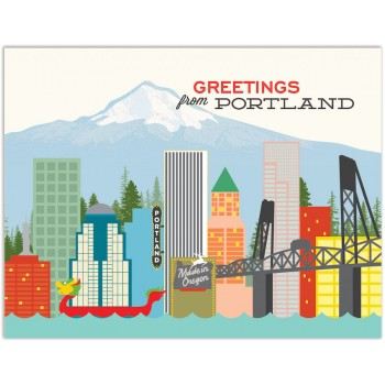 Greetings from Portland Skyline