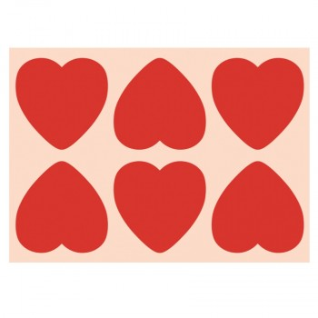 Big Red Hearts (8 pack)