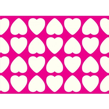 Hot Pink Hearts (8 pack)