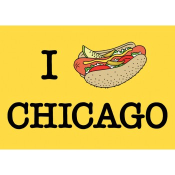 Postcard - Chicago Hot Dog