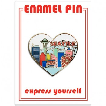 Pin - Seattle Skyline Heart