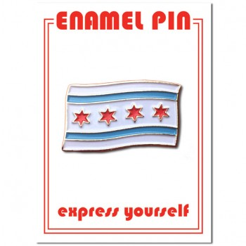 Pin - Chicago Flag