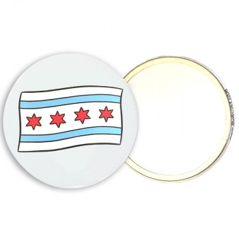 Pocket Mirror - Chicago Flag