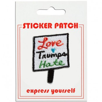 Sticker Patch - Love Trumps Hate Sign