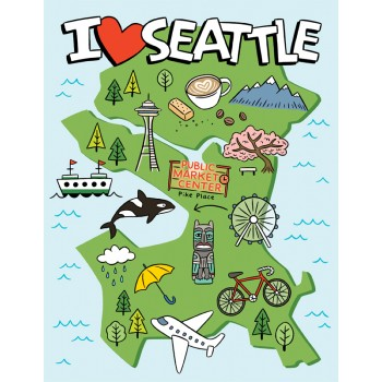 I Heart Seattle Map