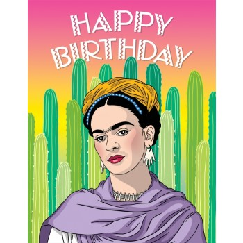 Frida Cacti Happy Birthday