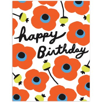 Poppies - Happy Birthday