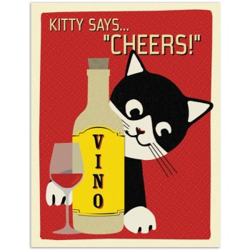 "Kitty Says ""Cheers!"""