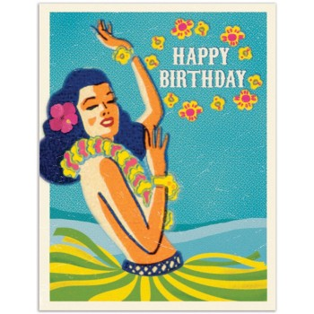 Hula Girl Happy Birthday
