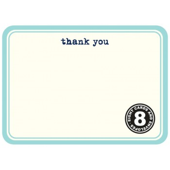 Thanks Blue Rounded (8/box)