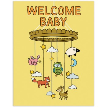 Welcome Baby Mobile