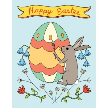 Painting Bunny - Happy Easter