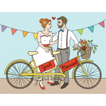Just Married - Tandem Bike