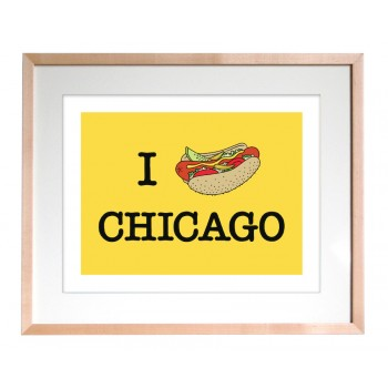 Art Print - I Hot Dog Chicago