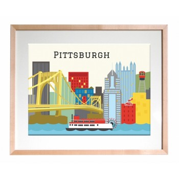 Art Print - Pittsburgh Skyline