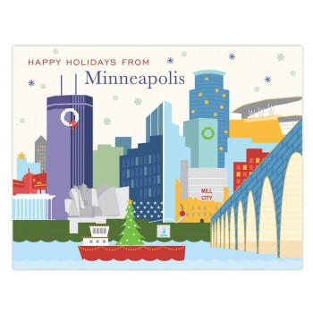 Minneapolis Skyline Holiday
