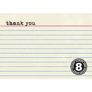 Index Card Thank You (8/box)