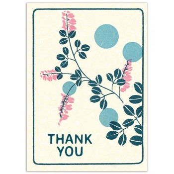 Florals Thank You (4-bar)