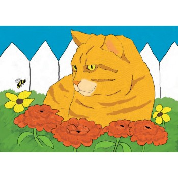 Cat with Bee