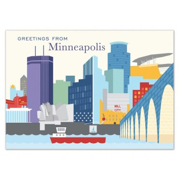 Postcard - Minneapolis Skyline