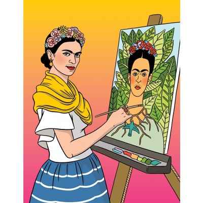 Frida Self-Portrait Blank