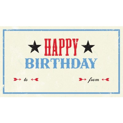 Tag - Happy Birthday (10/pk)
