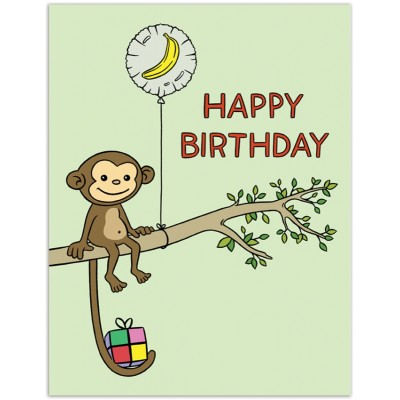 Monkey with Balloon HB