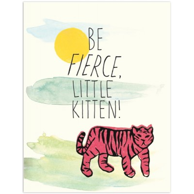 Be Fierce Little Kitten HB