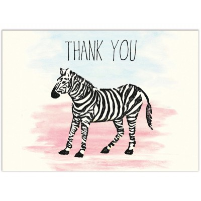 Zebra Thanks (4-bar)