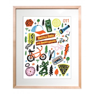 Art Print - Stranger Things Icons