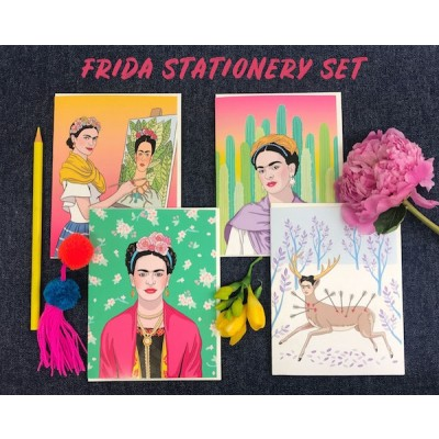 Frida Stationery Set (8/box)