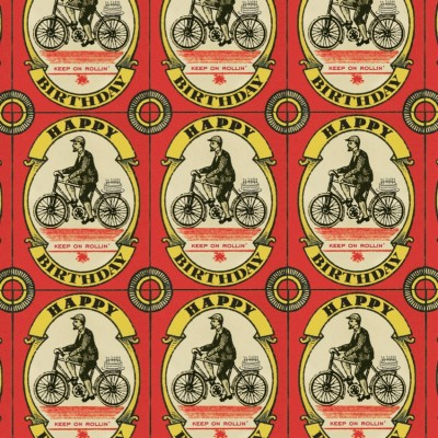 Vintage Cyclist Gift Wrap