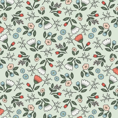 Coral Floral Gift Wrap