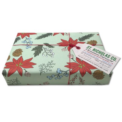 Poinsettia Gift Wrap