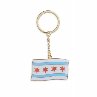 Key Chain - Chicago Flag