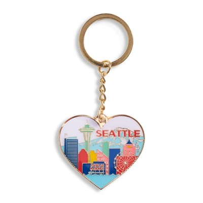 Keychain - Seattle Skyline Heart