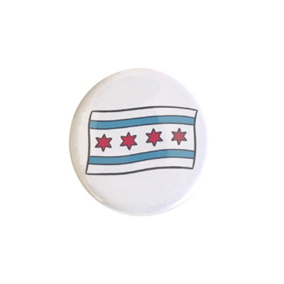 Round Magnet - Chicago Flag